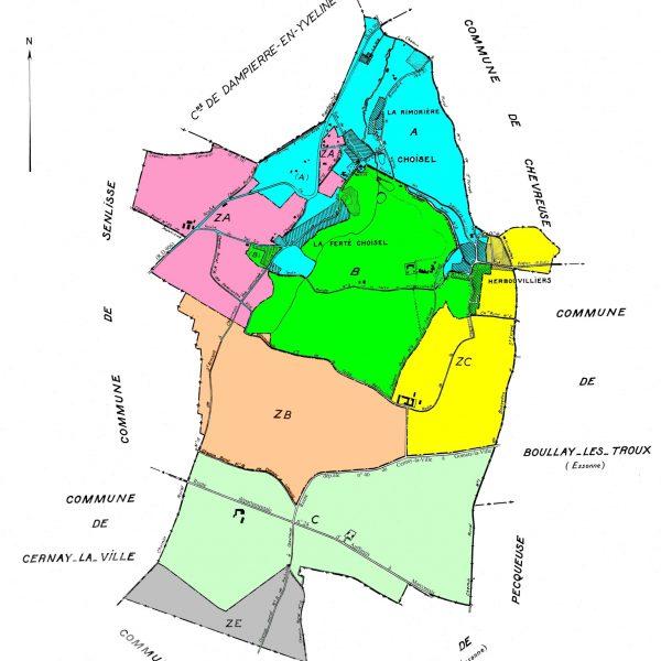 cadastre zonage couleur